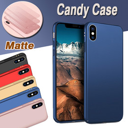 $enCountryForm.capitalKeyWord Canada - Fashion Candy Color Ultra Slim Matte Frosted Full Body Coque Capa Hard Plastci PC Cover Case For iPhone XS Max XR X 8 7 6 6S Plus Shockproof