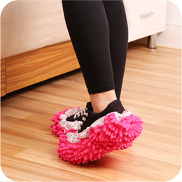 $enCountryForm.capitalKeyWord NZ - Household Floor Cleaning Slippers for Male Female Clean Mop Detachable Slippers Lazy Shoes Cover Microfiber Duster Cloth