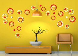 decoration wall stickers circles 2019 - 1 Set Indoor Room Decoration Circle Removable 3D Art Wall Sticker Round Home DIY,1 Set 5 discount decoration wall sticke