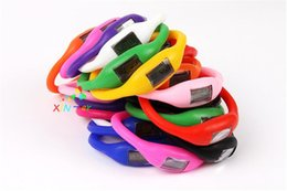 Silicone Wristband Pedometer Canada - silicone anion pedometer fitness running count equipment men and women outdoor sports bracelet Wristbands fitness equipment Children gifts