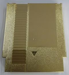 Plástico dourado da substituição do cartucho de jogo dos pinos do chapeamento de metal 72 da cor para o console de NES