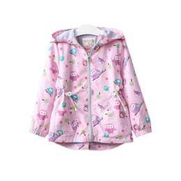 $enCountryForm.capitalKeyWord Canada - cute causal girl jacket coat graffiti animal owl hooded trench coat for 3-8years girls kids children cartoon outerwear clothes