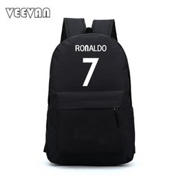 d212a67132af Wholesale- New Bag Ronaldo Men Backpacks Printing Backpacks For Teenagers  Boys Girls Nylon Laptop School Backpack Female Shoulder Bags