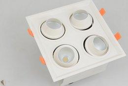 Venta al por mayor de Múltiples estilos de emisión de luz antideslumbrante 15/24 ángulo de haz 4x8w 4x12w luces de 4 cabezas orientables llevó la lámpara de la parrilla incrustado
