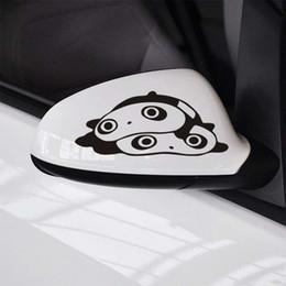 Panda mirror online shopping - 1 pair Automobile Exterior Accessory Panda Car Stickers cm cm Cute Fashion Car Rearview Mirror Stickers Car Rear Mirror Stickers