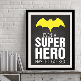 $enCountryForm.capitalKeyWord Canada - Printable Art Even a Super Hero has to go bed Quote, Print Canvas Poster Super Hero Art, Kids Room Decor, Frame Not included
