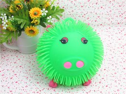 $enCountryForm.capitalKeyWord Australia - Glowing Ball Densely Hairy Pig Flash Ball Vent Trick Toys Toys For Children