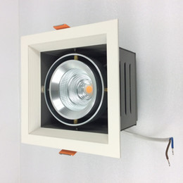 House iron box online shopping - Adjustment W W W W LED Grille Square Light for Ceiling Installation Iron Housing Aluminum Core Driver Box attached