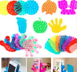 Cute Phone Stickers Australia - Wholesale- 1 PCS Cute Double Side Suction Magic Sucker for Bathroom Mobile Phone Sticker Stand Holder Vacuum Sucker