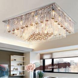 crystal lamp living room lamp european style luxurious atmosphere simple rectangular modern dining room bedroom lamp led crystal lamp. beautiful ideas. Home Design Ideas