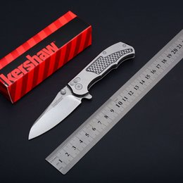 Discount hinderer knives - Free Shipment Kershaw 1558 Hinderer Design Tactical Aluminum Handle Outdoor Camping Hunting Survival Pocket Knife Flippe