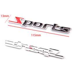 car letter badges 2018 - car styling 3D Sports TYPE R M power 2.0T 2.2T 2.4T 2.8T Word Letter Chrome Metal Car Sticker cover Emblem Badge Decal f
