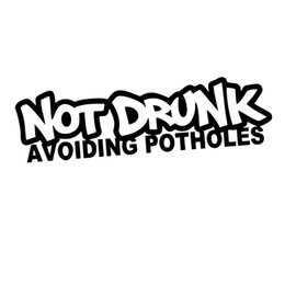 Chinese  New Product For Not Drunk Avoiding Potholes Sticker Funny Attractive Car Styling Jdm Drift Car Window Graphics Decor manufacturers
