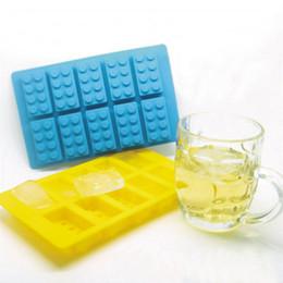 Lego brick tray online shopping - Silicone LEGO Brick Style Freezer Ice Cube Tray Ice Mold Maker Bar Party Drink DIY Building Block Sharped Ice Tray Free DHL Fedex