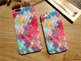 $enCountryForm.capitalKeyWord Canada - Iphone7 Frosted Colorful Hybrid Hard PC Cases Korea Fish Scales Printing Full Cover Shell Cases For Iphone 6 6S 7Plus Case W161202