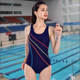 ce094d93f71d9 2017Hot Sale New Arrival One Piece Swimsuit Sports Bodysuits Swimwear Women  Swimming Suits Striped Swim Wear Summer Bathing Suit