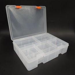 aluminum water proof case 2019 - Wholesale-Multi Tiered Toolbox Water Proof Engineering Plastic Tool Box for Electronic Components SMD SMT Screw Screwdri