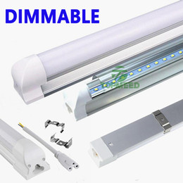 tube lights wholesale Canada - Dimmable Integration 2ft 3ft 4ft T8 Led Tube 1.2m LED Light Tube 11W 16W 22W 2400lm 85-265V Led lamp Fluorescent lighting 505000