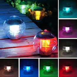 $enCountryForm.capitalKeyWord NZ - Water Floating solar lamp colorful waterproof solar powered ball Light poor lamp red green blue round for festival holiday decoration