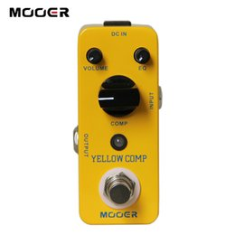 Wholesale MOOER Yellow Comp Optical Compressing Pedal True bypass Full metal shell Guitar effect pedal