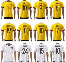 64a64961e ... away custom FALCAO JAMES 17-18 Thai 10 James Rodriguez Jersey Football Shirt  Colombia Soccer Jerseys 7 Carlos Bacca ...