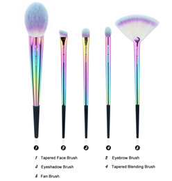 hairs travel kit Australia - Anmor Rainbow Makeup Brush Set 5 Pieces Makeup Brushes Portable High Quality Travel Kit Soft Synthetic Make Up Brushes Cf -531