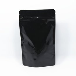 Chinese  20Pcs  Lot 13*21cm Doypack Black Stand Up Zipper Heat Seal Pure Aluminum Foil Ziplock Pouch Snack Storage Mylar Zip Lock Bags manufacturers
