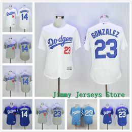 fa9eaeba Flexbase Stitched Jersey Hot Sale Los Angeles Dodgers Jerseys 14 Enrique  Hernandez 23 ...