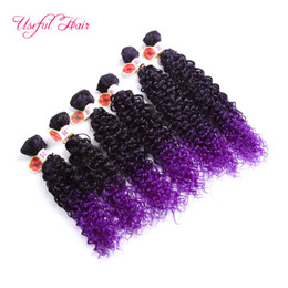 Chinese  freetress hair WEFT deep wave new JC synthetic hair color 27 Jerry curl extensions purple crochet braids synthetic hair weaves wholesale manufacturers