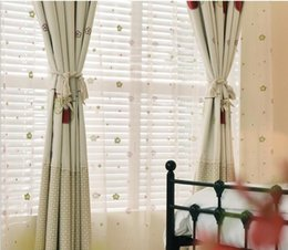 high end patchwork lovely cartoon gloves embroidered window blackout curtain for living room kid bedroom wholesale fabric price