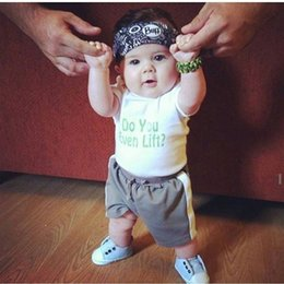 T Shirt Style Boys NZ - New Style Baby Boy Clothing Set Summer Short Sleeve T-shirt Short 2pcs Baby Boy Outfit Letter Printed Children Clothes