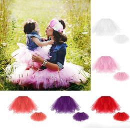 mother daughter tutu skirts UK - Mother and baby daughter princess tutu skirt dress home match clothes baby girl and her mother's skirt photo props DHL free shipping