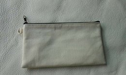 $enCountryForm.capitalKeyWord NZ - 10pcs lot 19.5*11cm Black cotton canvas cosmetic bags DIY women blank plain zipper makeup bag phone clutch bag Gift organizer cases