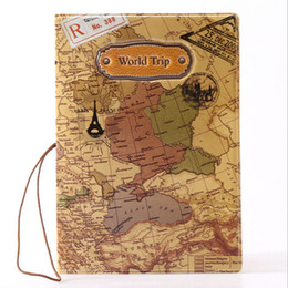 Leather Passport Cover Wholesale Canada - Travel Passport Cover Map Patterns Passport Holder Cover Identity ID Card Credit Card Holder Bags Document Folder