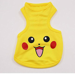 $enCountryForm.capitalKeyWord Canada - 2018 New Arrival Picacho Pet Clothing, Spring And Summer Mesh, Breathable Picacho, Dog Vest, Sports Cartoon, Fashion Clothes, Mesh T-shirt