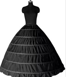 Discount ball gown hoop skirts for - Super Cheap Ball Gown 6 Hoops Petticoat Wedding Slip Crinoline Bridal Underskirt Layes Slip 6 Hoop Skirt Crinoline For Q