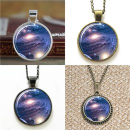 Discount hipsters glasses - 10pcs Galaxy Nebula Jewelry Stars And Universe Hipster Space Pendant glass Necklace keyring bookmark cufflink earring br