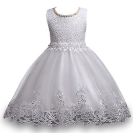 0919456b7640 Kids Girls Lace Dresses Baby Girl Sequin Dress 3-10 Years Infant Princess  Flower Wedding Dress for Birthday Party 2017 Pattern Girl Clothing
