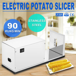 carrot cutter slicer Canada - ELECTRIC POTATO TORNADO SLICER COMMERCIAL VEGETABLE CUTTER SPIRAL POTATO ON SALE Affettatrice Carrots Slicer 10W Electric Potato Slicer