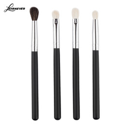 popular eyeshadow Australia - 4pcs set Professional Eye brushes set eyeshadow Foundation Mascara Blending Pencil brush Makeup tool Black Popular