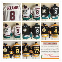 373942b25 Ducks Blank Green CCM Jersey Mighty Ducks Throwback 8 Teemu Selanne 9 Paul  Kariya 8 Cam Neely 4 Bobby Orr 77 Mens NHL ...