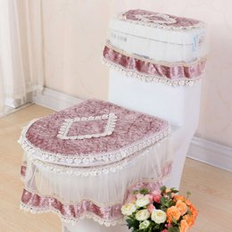 high grade lace threepiece set toilet seat cover ushaped overcoat wc cover home decor bathroom toilet mats closestool merletto ji0074