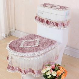 high grade lace threepiece set toilet seat cover ushaped overcoat wc cover home decor bathroom toilet mats closestool merletto ji0074 cheap bathroom decor