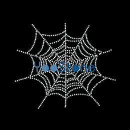 Tutti i tipi di ragnatele sul ferro strass su trasferimenti Hotfix Motif Design per magliette in Offerta