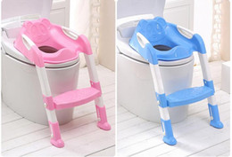 pink chairs Canada - Baby Potty Training Kids Toilet Seat Travel Potty Chair Safety Ladder Baby Potty Chair Non-Slip Toilet Seat Foldable Chairs
