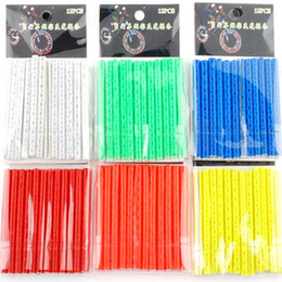 Wholesale Bike Wheel Rim Spoke Mount Clip Tube Warning Bicycle Light Strip Reflector Colors Bicycle Accessories Reflective tube