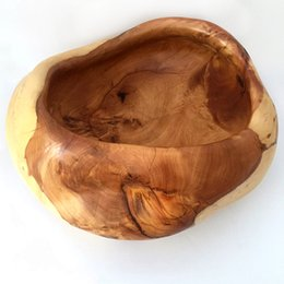 wooden bowl chinese feng shui treasure bowl manual hand made money tree crafts decoration wood