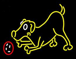 "$enCountryForm.capitalKeyWord NZ - Dog Play With Ball Neon Sign Custom Handmade Real Glass Tube Animals Hospital Pets Store Advertisement Display Art Neon Signs Light 17""X14"""