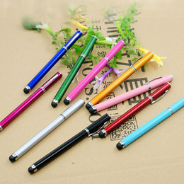 $enCountryForm.capitalKeyWord NZ - 2 in 1 Ball Point Capacitive Screen Stylus Touch Pen For IPhone 6 5 IPad Samsung Cell Phone Mobile Tablet PC Free Shipping 1000PCS