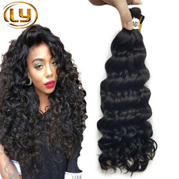 human hair sold chinese Australia - Best Selling Deep Curly Human mini Braiding Hair No Weft 100% Unprocessed Brazilian Hair Bulk For Braiding Buy 3Lot Get 1Pcs Free